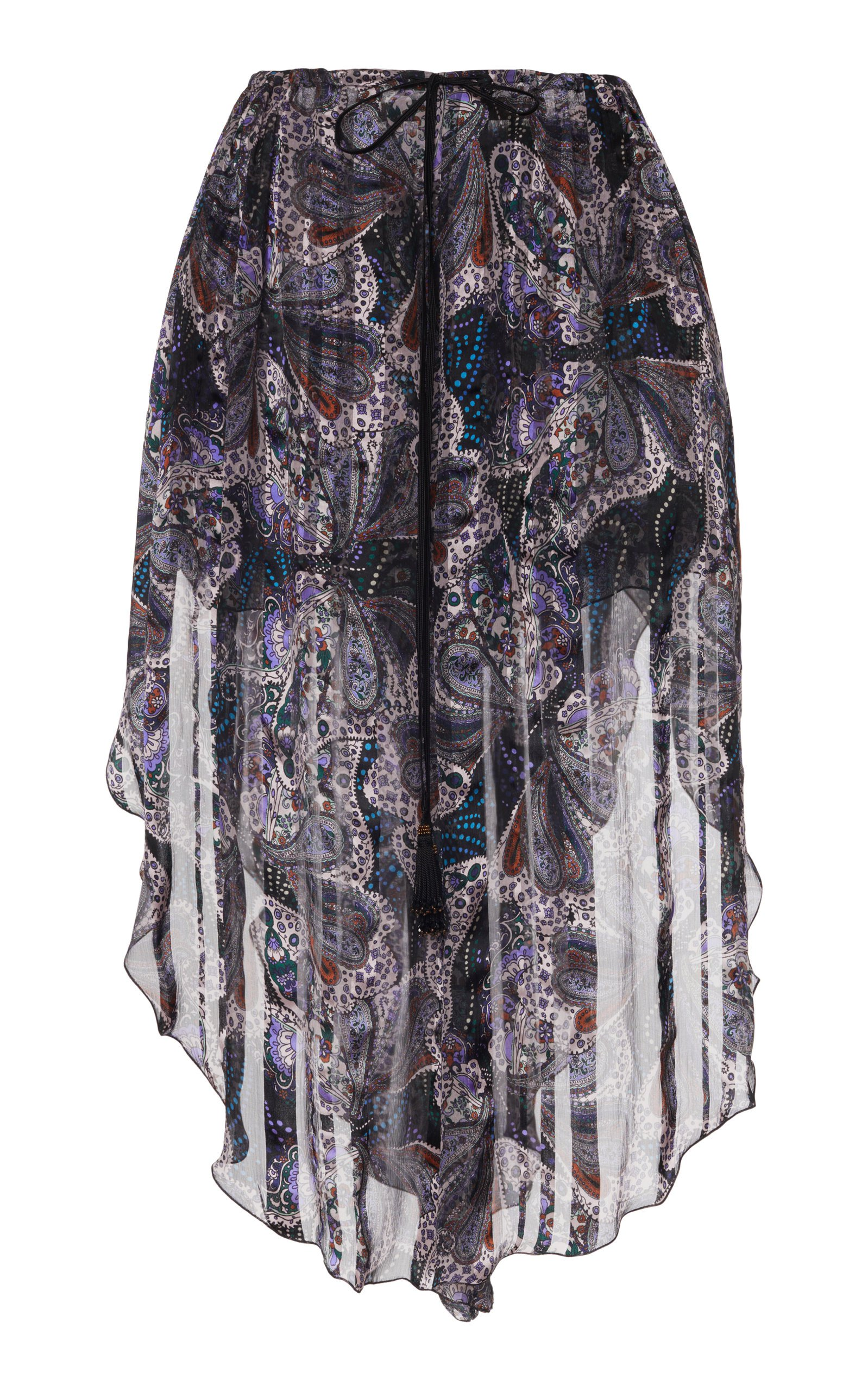 Etro Printed Silk Skirt Size: 48