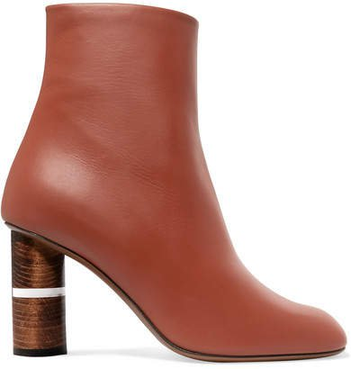 Clowesia Leather Ankle Boots - Tan
