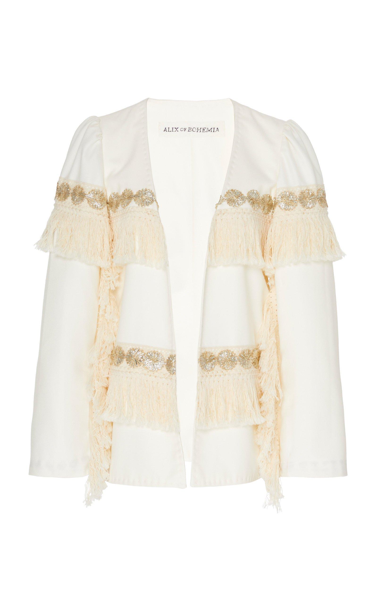 Alix of Bohemia Priscilla Fringed Cotton Jacket Size: M
