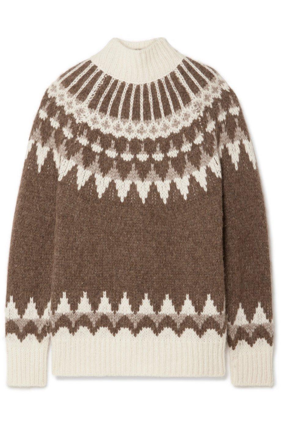 FRAME | Oversized Fair Isle alpaca-blend turtleneck sweater | NET-A-PORTER.COM