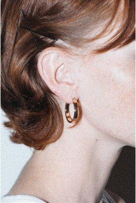 Gold Chunky Hoop Earrings - Just In