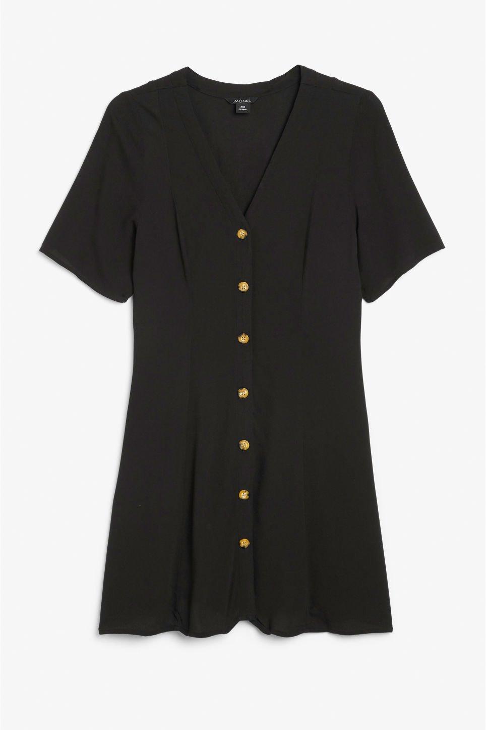 Retro skater dress - Black magic - Dresses - Monki GB