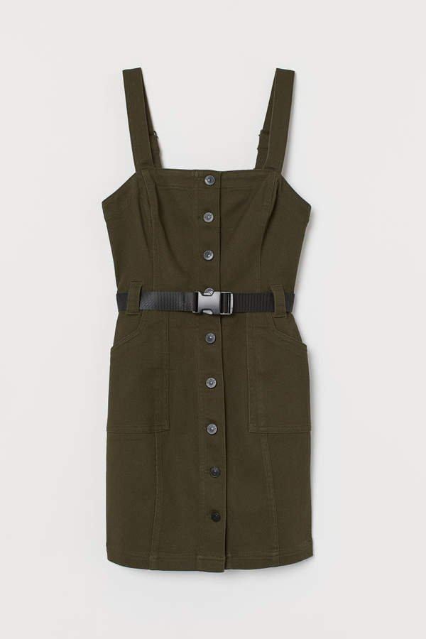 Bib Overall Dress - Green