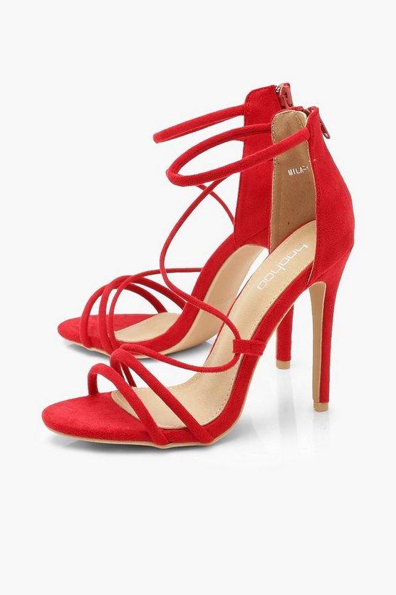 Strappy Stiletto Sandals | Boohoo