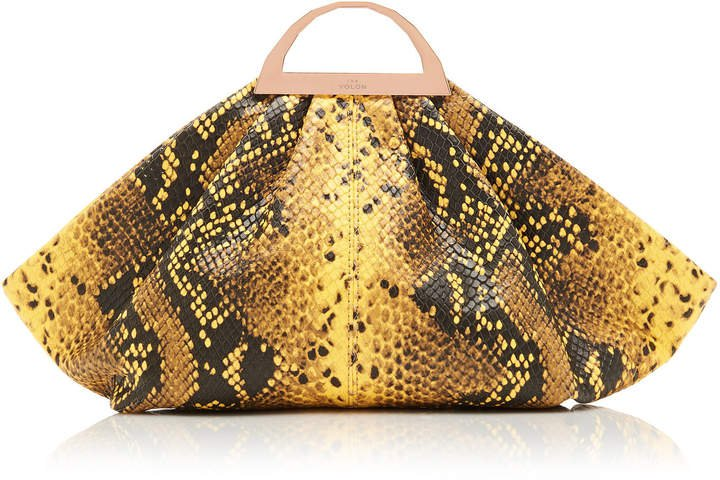 The Volon Gabi Mini Snake-Effect Leather Clutch