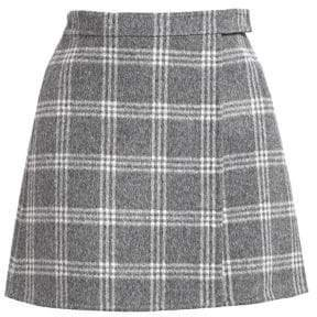 Women's Mini Plaid Skirt - Charcoal Melange Multi - Size 10