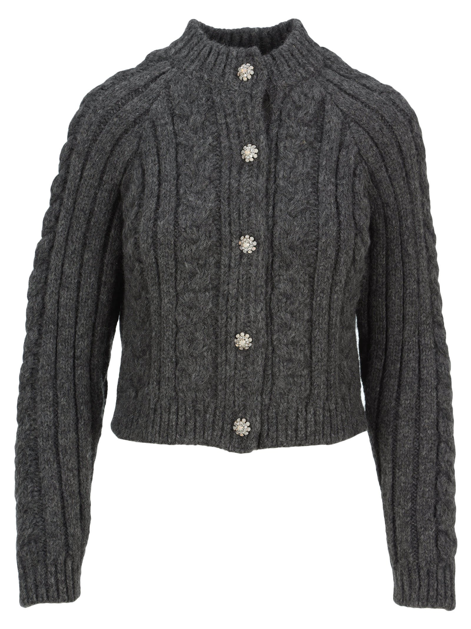 Ganni Cable Knit Cardigan