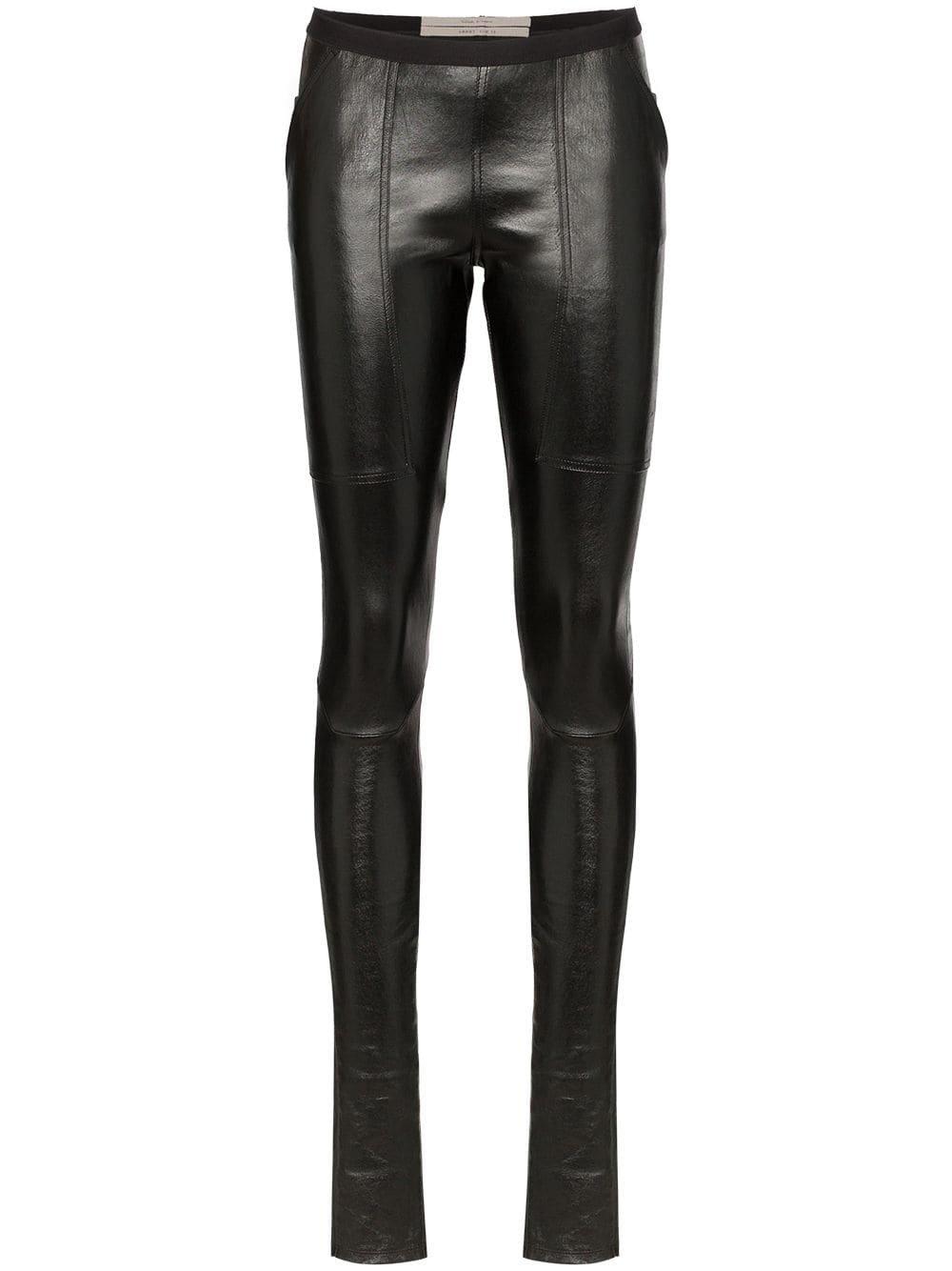 Rick Owens Lambskin Leather Leggings - Farfetch