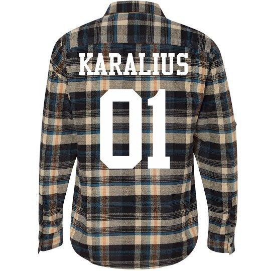 "Lithuanian King ""Karalius 01"" Flannel Shirt"