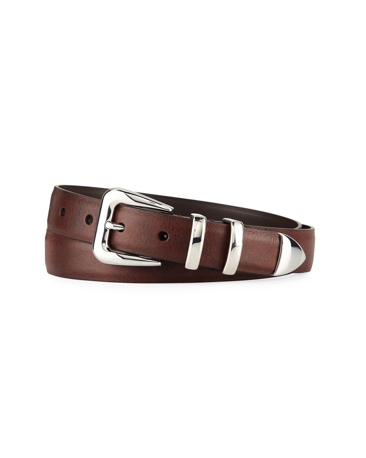 Brunello Cucinelli Smooth Leather Belt