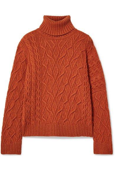 Loro Piana | Cable-knit cashmere turtleneck sweater | NET-A-PORTER.COM