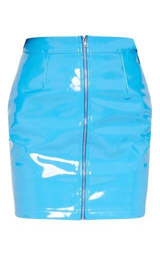 Blue Vinyl Mini Skirt | Skirts | PrettyLittleThing