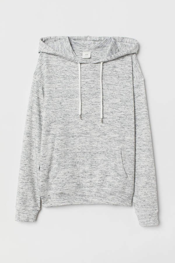 Jersey Hooded Shirt - Gray