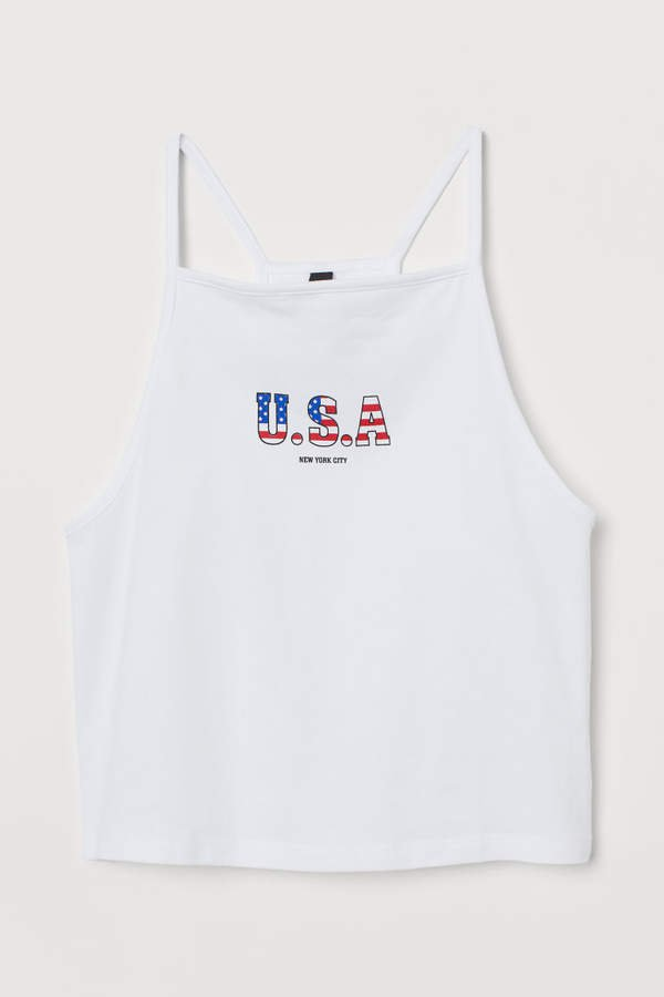 Short Tank Top - White