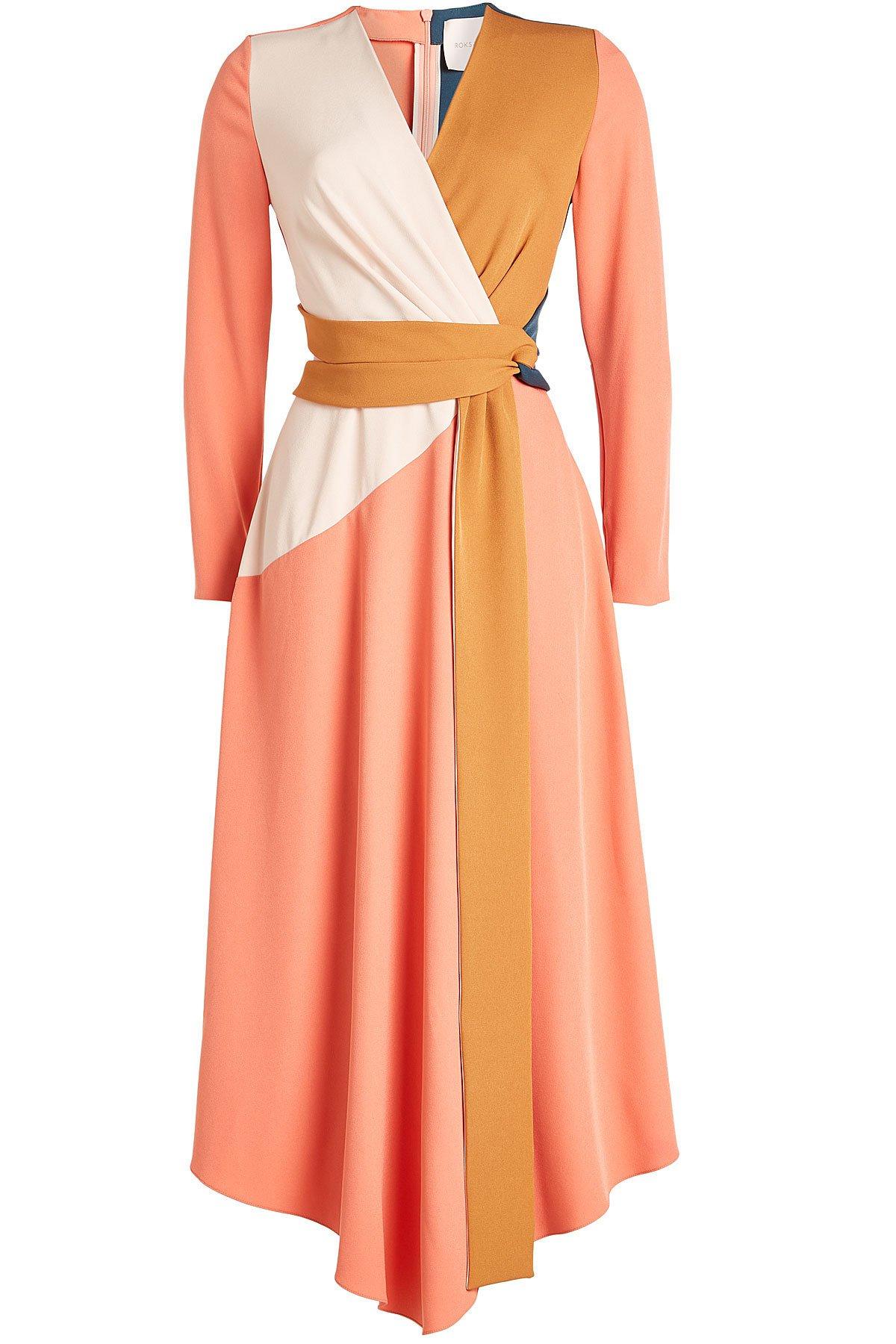 Colorblock Wrap Dress Gr. UK 8