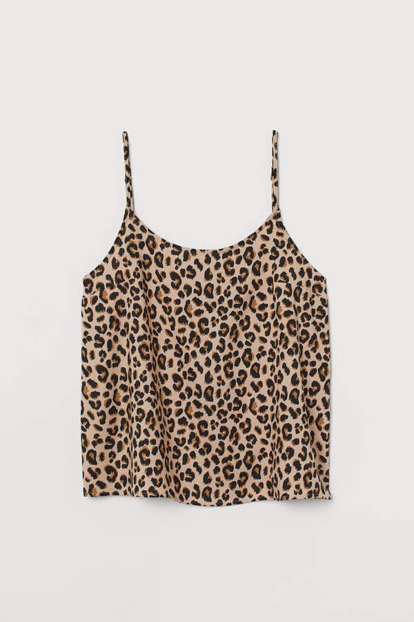 Patterned Camisole Top - Beige