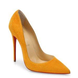 Christian Louboutin Yellow So Kate Full Moon Suede Mustard Stiletto Pumps Size EU 35.5 (Approx. US 5.5) Regular (M, B) - Tradesy