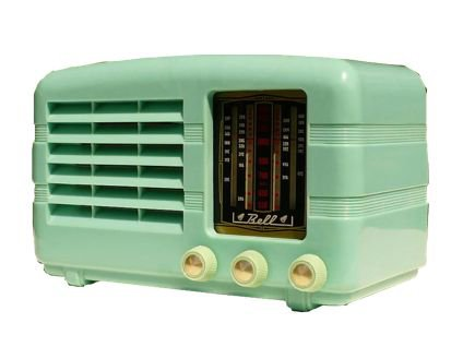 mint green retro radio png filler