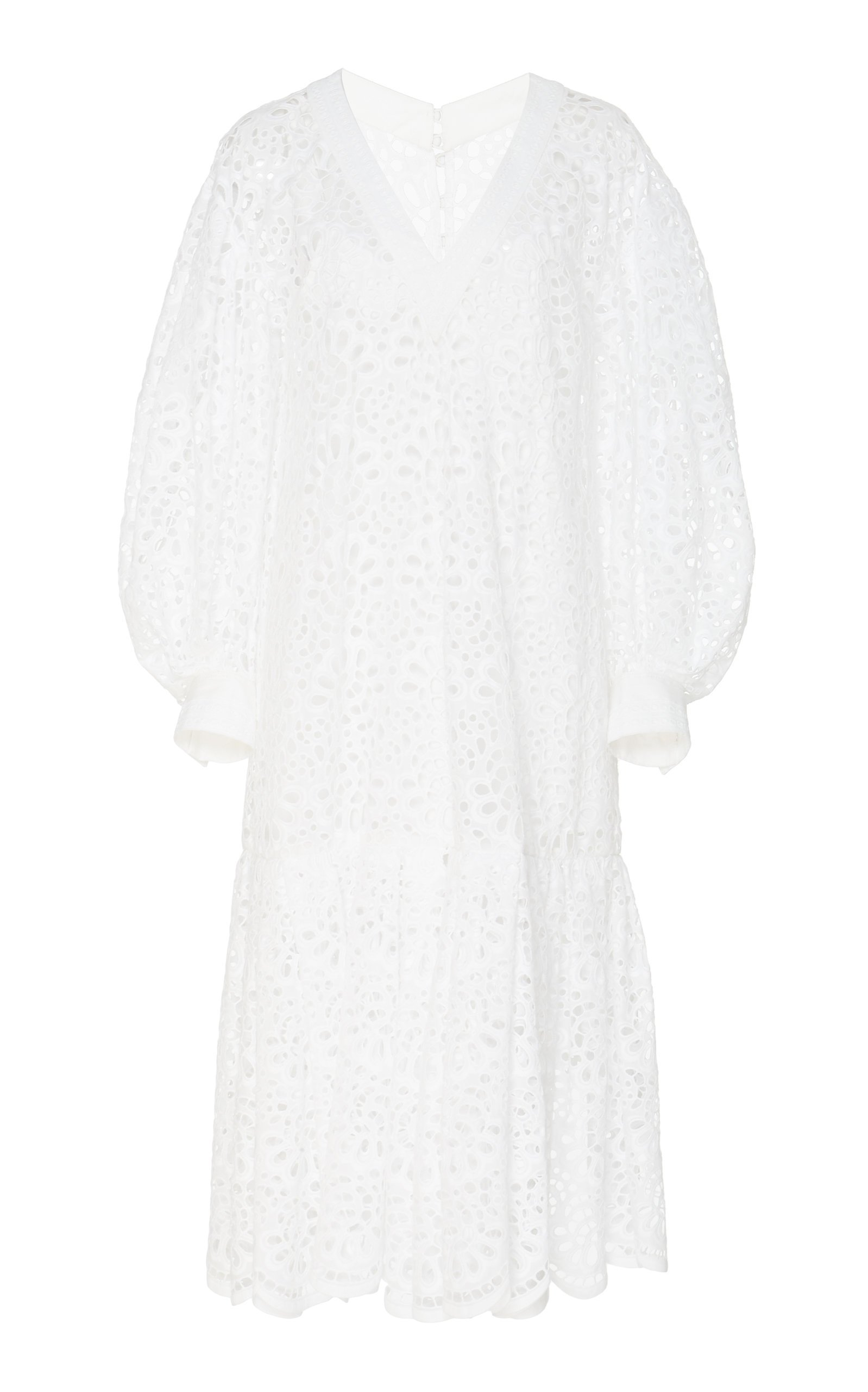 Carolina Herrera Broderie Anglaise Cotton Dress