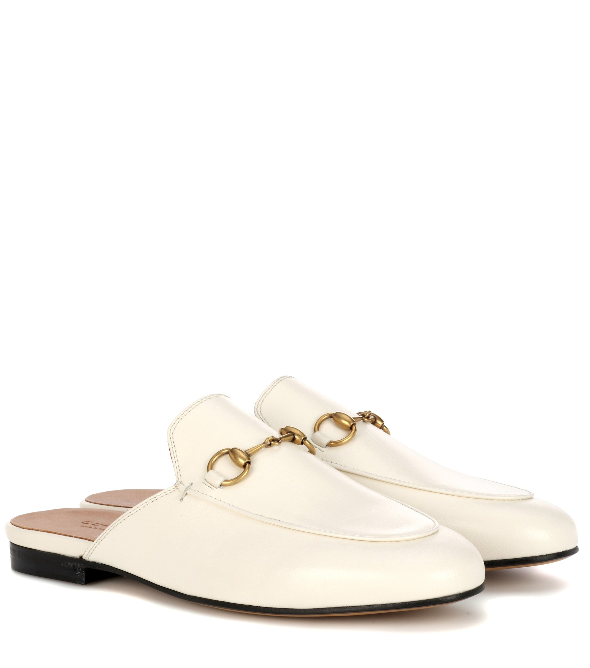 Princetown Leather Slippers - Gucci | mytheresa