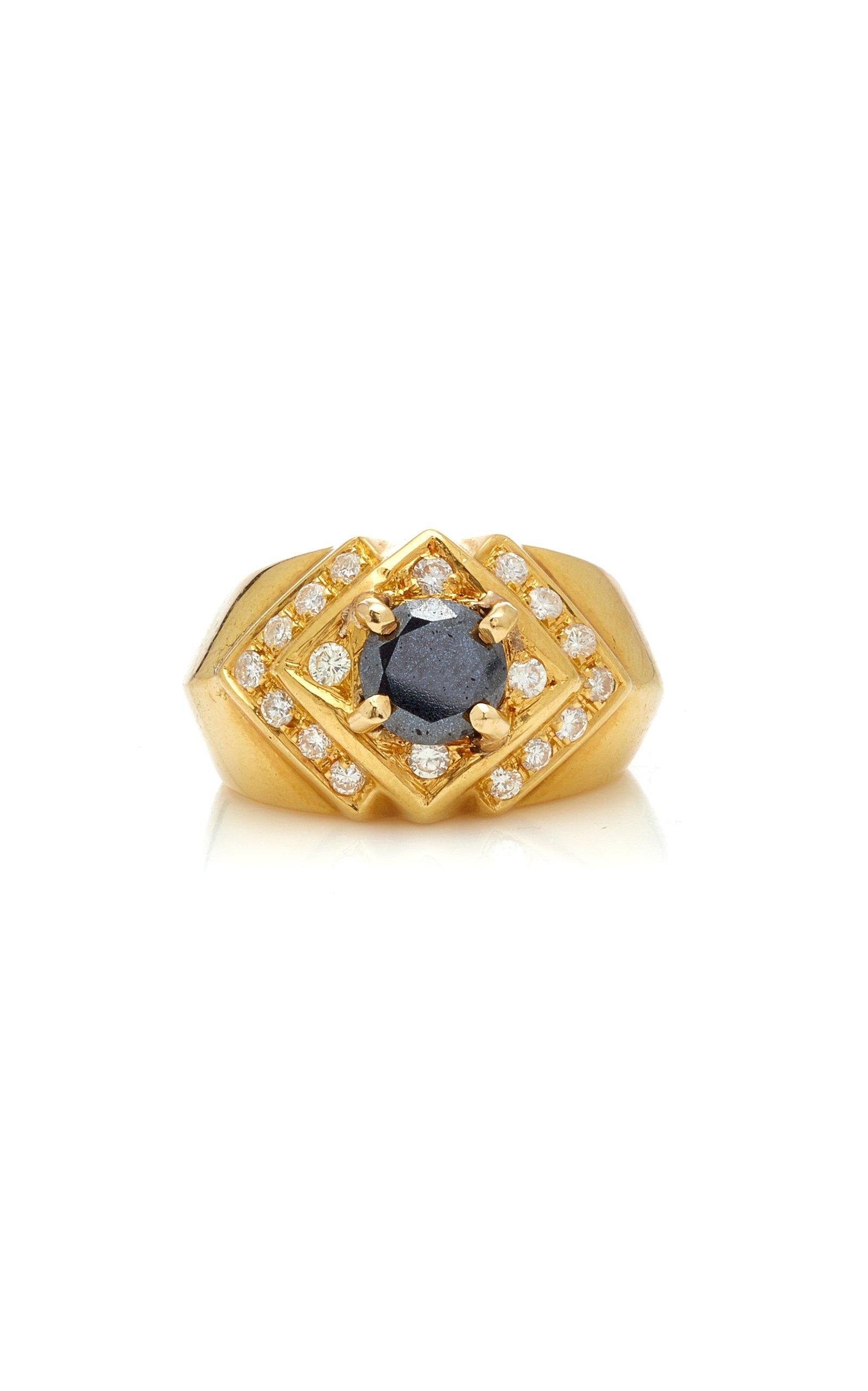 Eleuteri 18K Gold And Black Diamond Ring