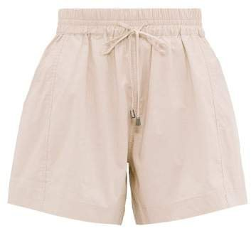 Trail A Line Cotton Shorts - Womens - Light Pink