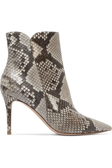 Gianvito Rossi | Levy 85 python ankle boots | NET-A-PORTER.COM