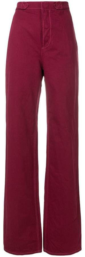 straight fit utility trousers