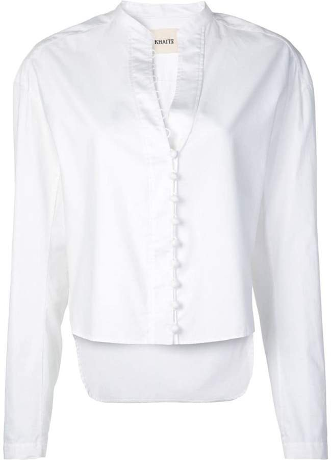 front button fastening blouse
