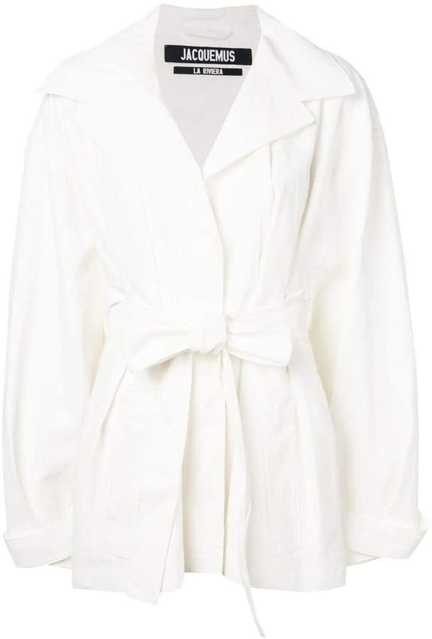 oversized wrap belted coat