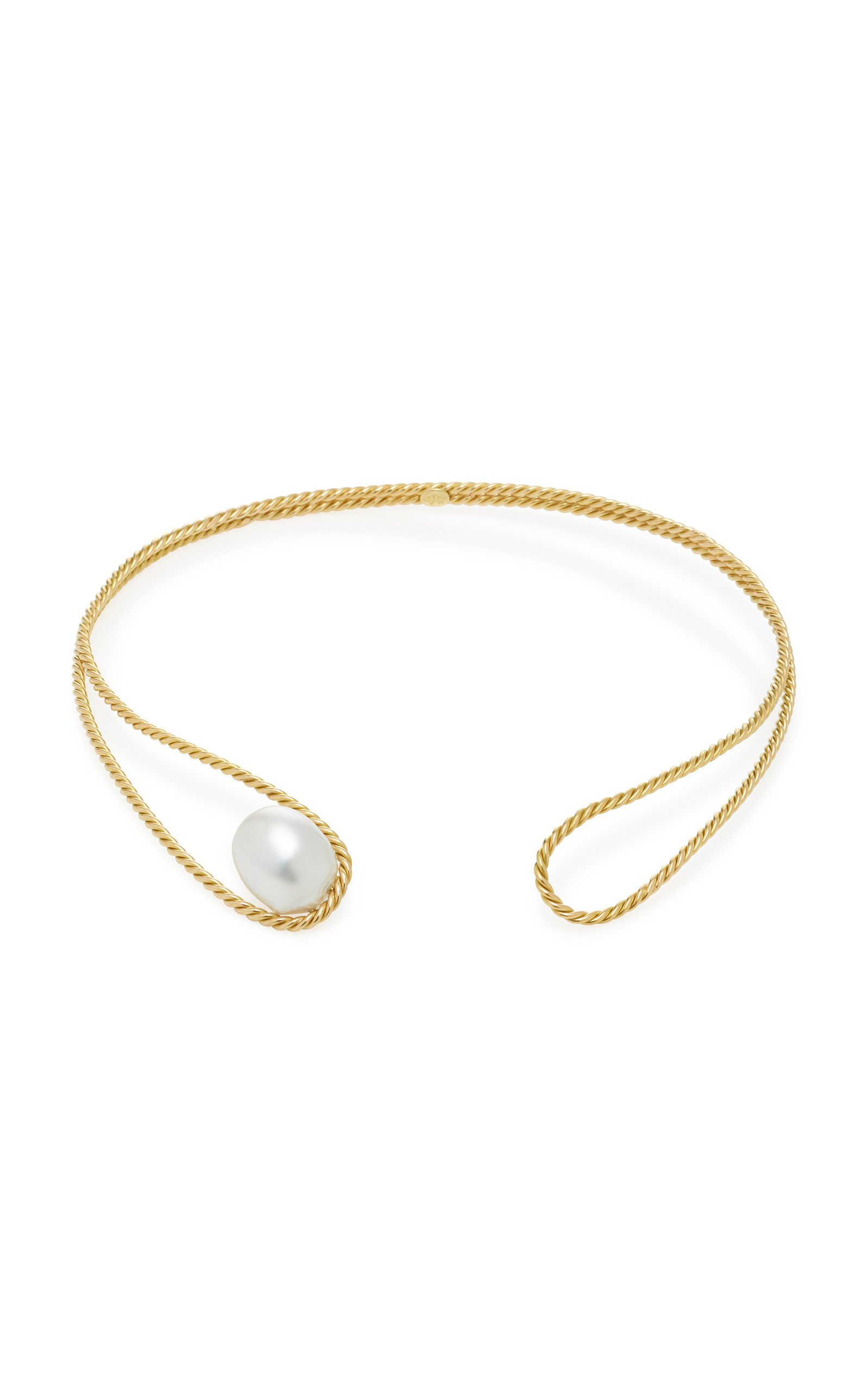 Haute Victoire 18K Gold And Pearl Choker