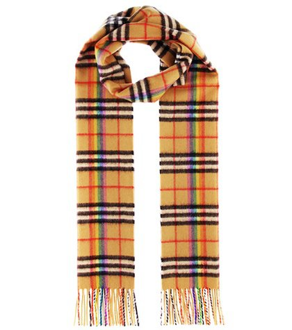 The Classic Rainbow cashmere scarf