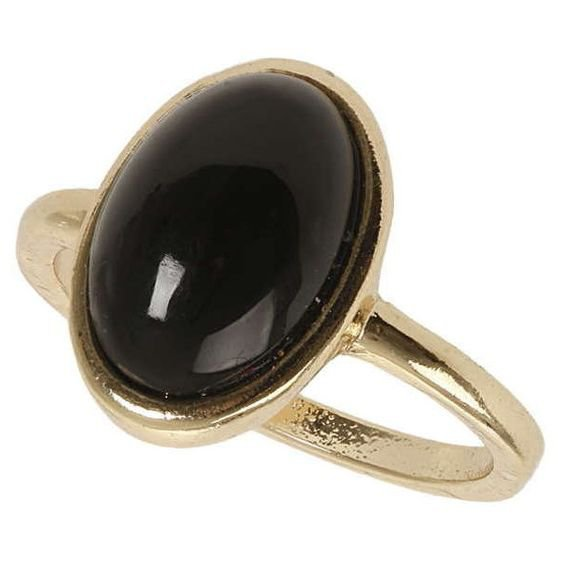 Dorothy Perkins Black Stone Ring