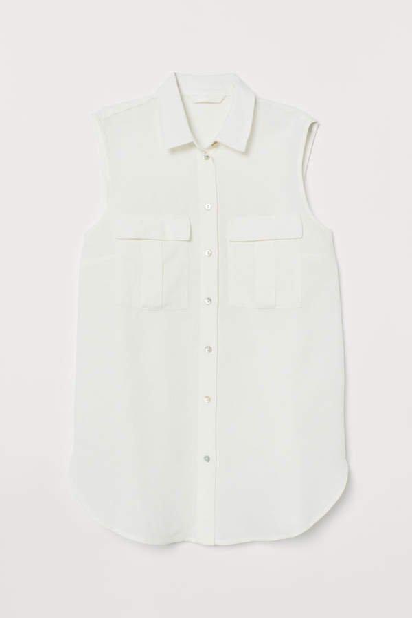 Sleeveless Blouse - White