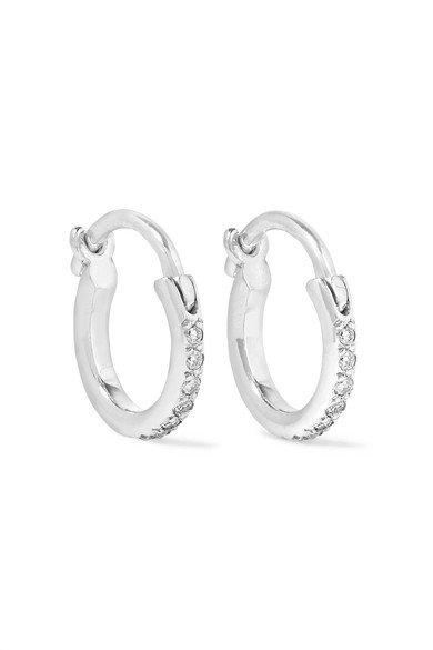 Ileana Makri | 18-karat white gold diamond hoop earrings | NET-A-PORTER.COM