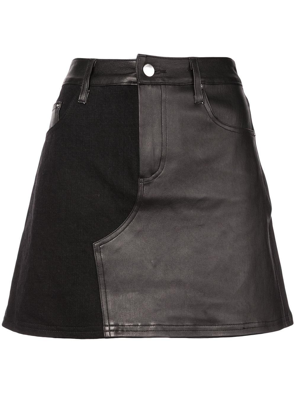 Amiri Contrast Mini Skirt - Farfetch