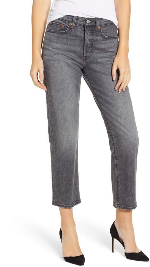 Wedgie High Waist Crop Straight Leg Jeans