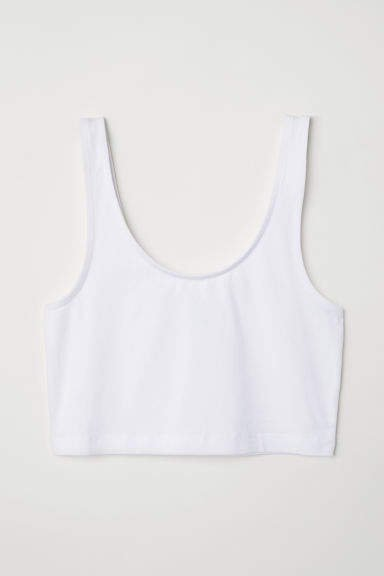 Short Tank Top - White