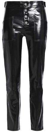 Patent-leather Slim-leg Pants