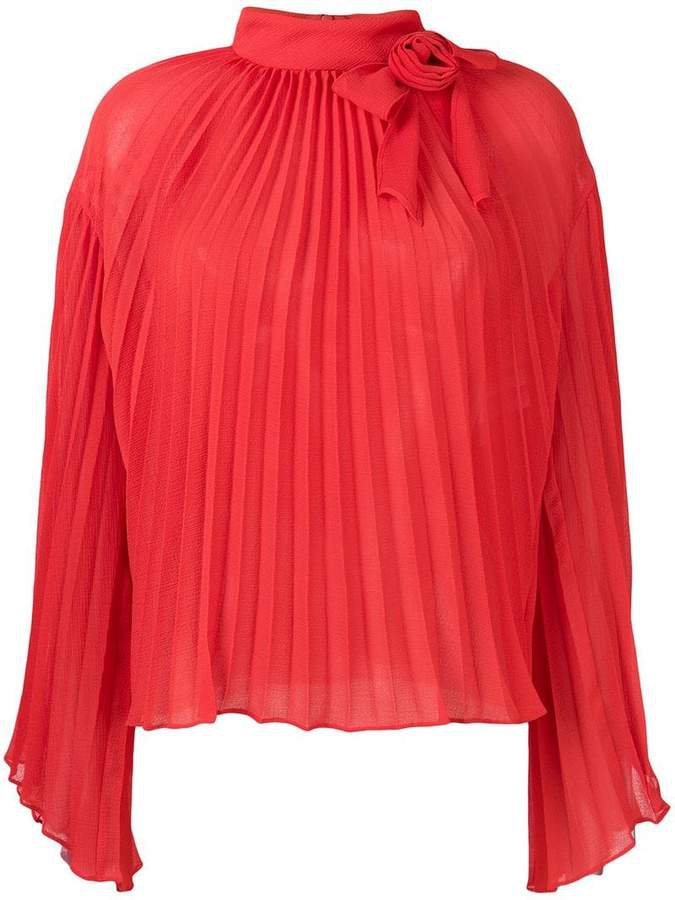 pleated rose blouse