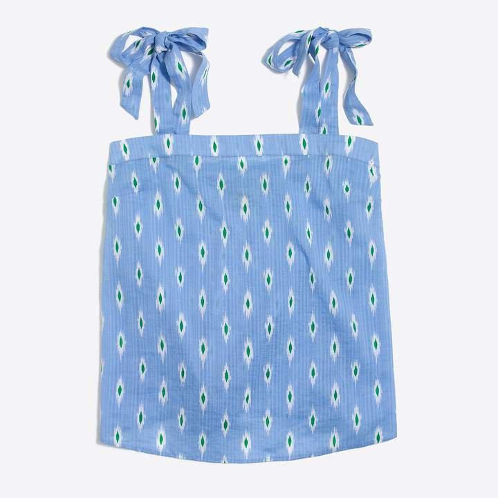 Printed tie-shoulder cami top