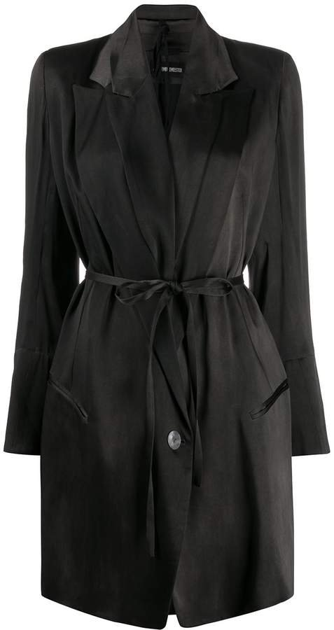 belted lightweight coat