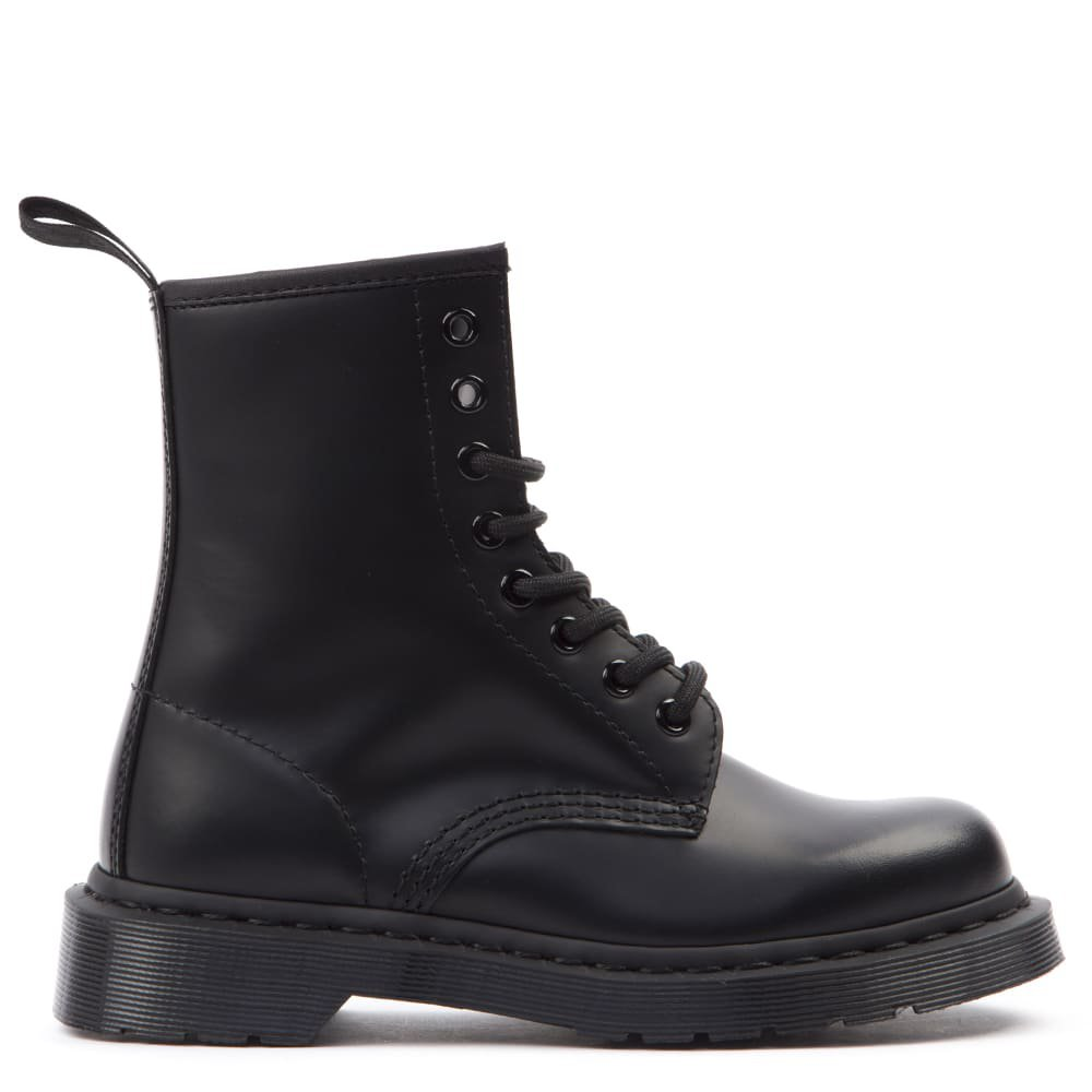 Dr. Martens Black Leather Lace-up Boots