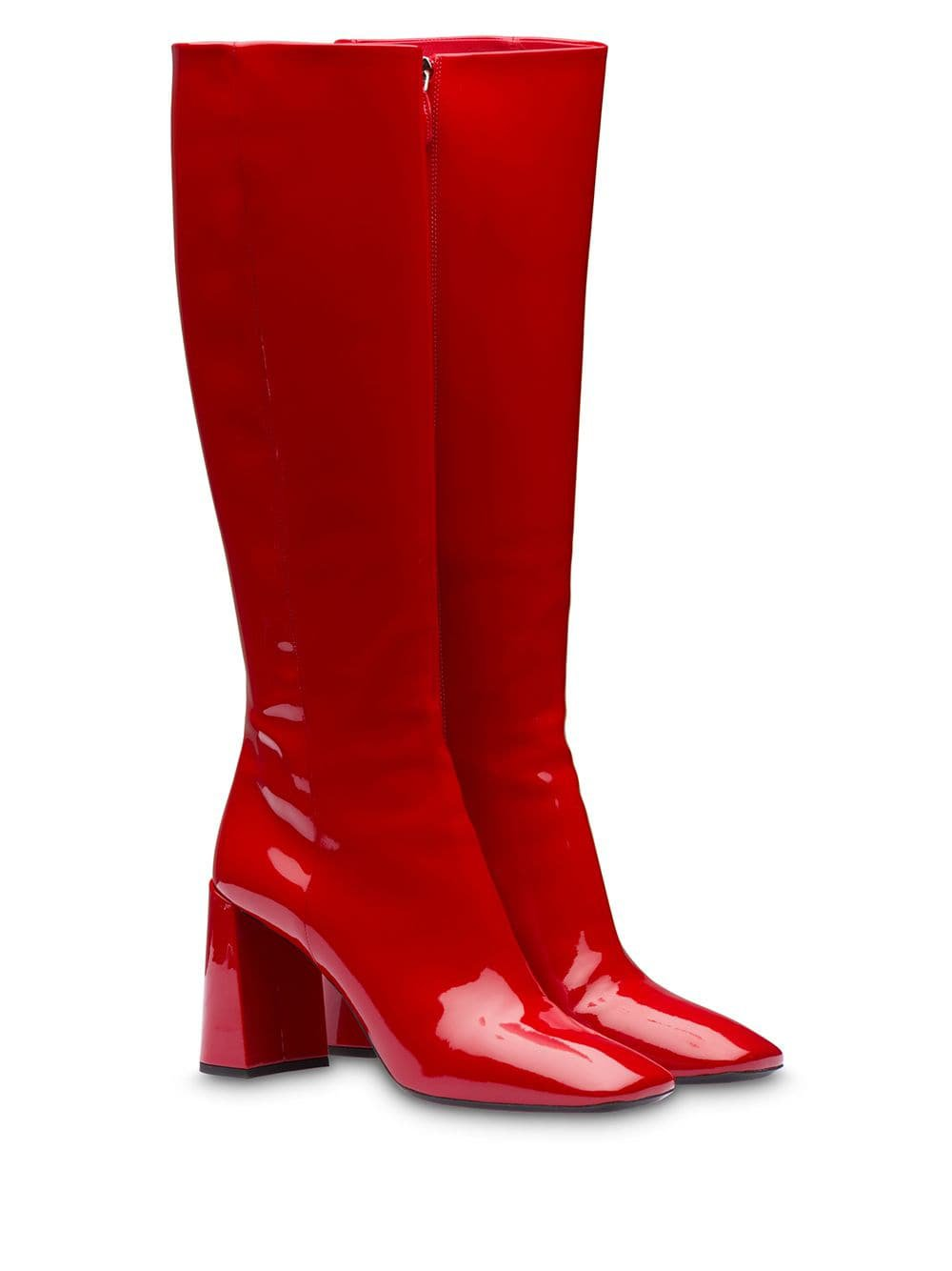 Prada patent leather boots $1,200 - Shop AW19 Online - Fast Delivery, Price