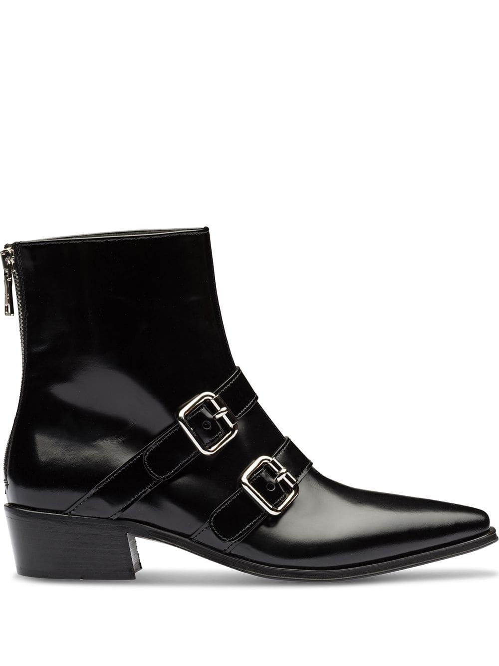 Black Prada Buckled Ankle Boots   Farfetch.com