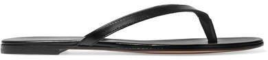 Leather Flip Flops - Black