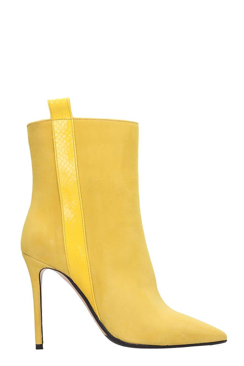 The Seller Ankle Boots In Yellow Suede
