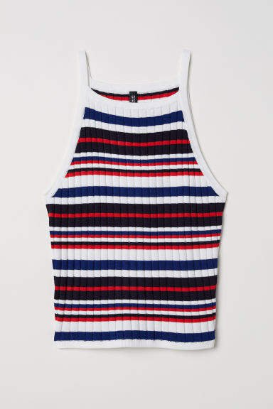 Ribbed Tank Top - Blue