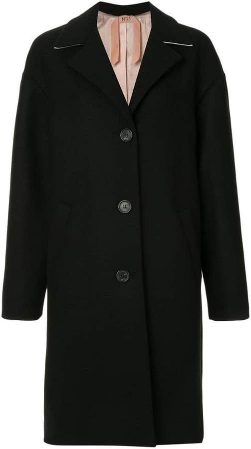 wool oversized single breast coat