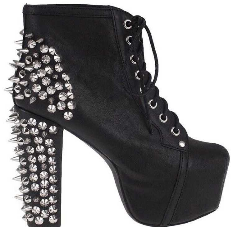 spiked ankle boot